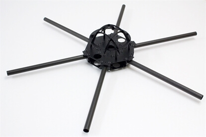 Picture of Quadframe Sixcopter frame 16mm